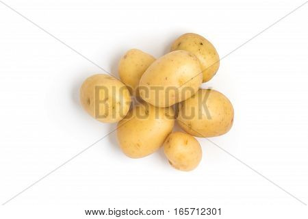 Baby Potatoes. Small Potato on white background