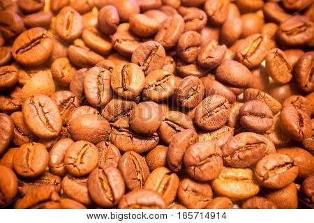 Coffee beans texture can be used a background