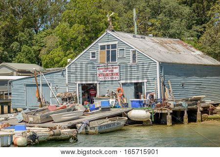SYDNEY AUSTRALIA - OCTOBER 11 2016: Abbotsford Boatshed is one of the oldest boatsheds on Sydney Harbour.