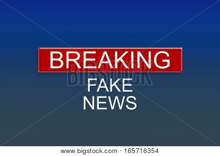News Background: Breaking Fake News 3d illustration