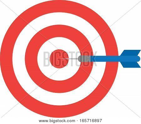 Bullseye With Dart. Center
