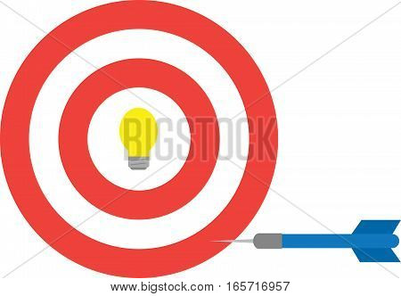 Bullseye With Light Bulb And Dart