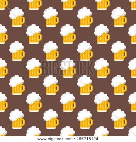 Alcohol beer vector transparent glass illustration. Celebration refreshment brewery icon. Party dark vintage beverage mug frosty craft drink seamless pattern.