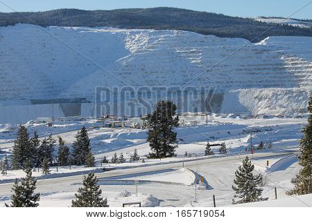 Mining in the winter months - hilltop view
