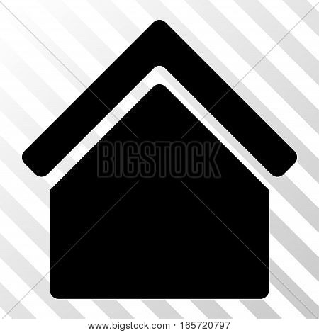 Black Home interface icon. Vector pictograph style is a flat symbol on diagonal hatch transparent background.