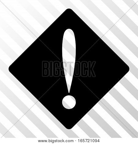 Black Problem interface toolbar pictogram. Vector pictogram style is a flat symbol on diagonally hatched transparent background.