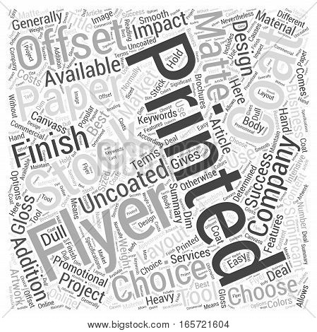 Choosing the Best Canvass For Your Flyer Artwork Word Cloud Concept