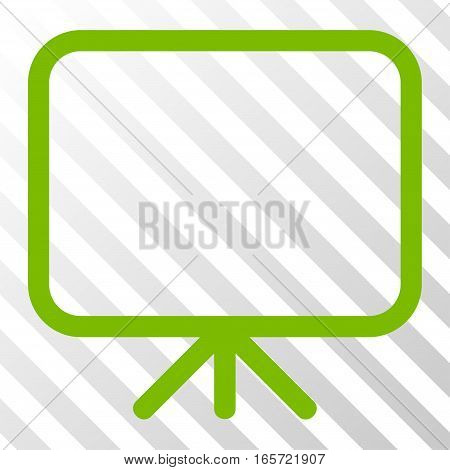 Eco Green Presentation Screen interface toolbar pictogram. Vector pictograph style is a flat symbol on diagonal hatch transparent background.