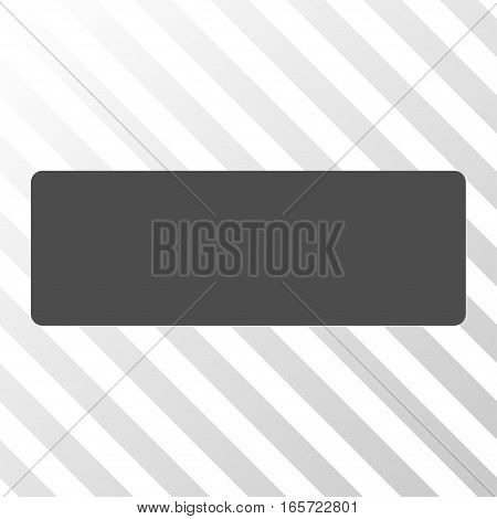 Gray Minus interface pictogram. Vector pictogram style is a flat symbol on diagonal hatch transparent background.
