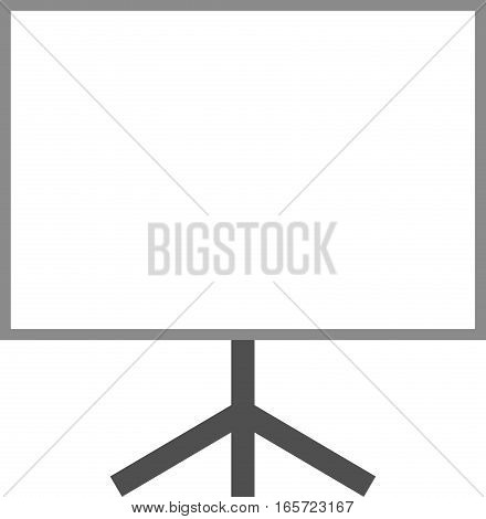 Vector illustration of white board with stand.