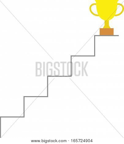 Trophy On Top Of Stairs