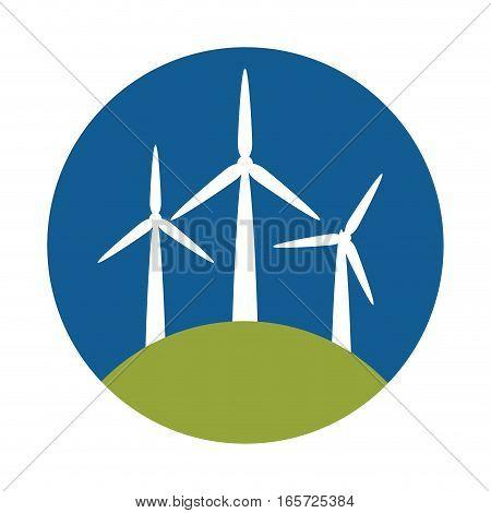 windmill eco energy icon vector illustration design