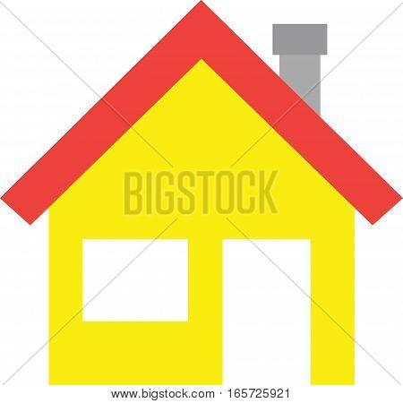 House With Window And Door