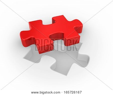 Red Jigsaw Puzzle Piece