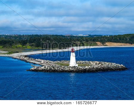 The Lighthouse on McNabs Island Halifax Nova Scotia Canada