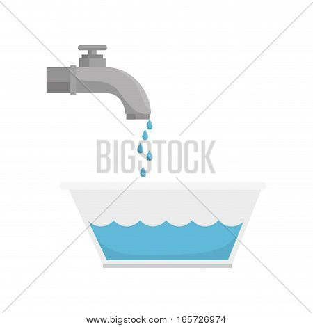 tap water with pot vector illustration design