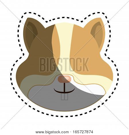 cute hamster isolated icon vector illustration design