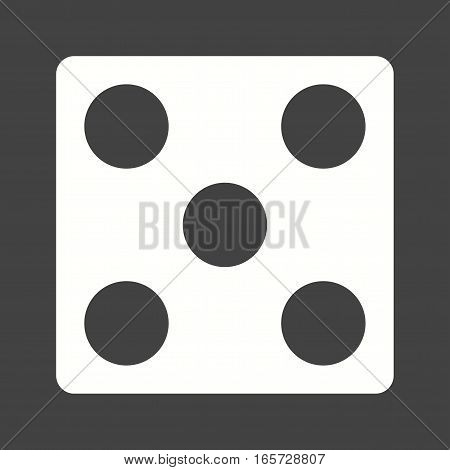 Dice, gambling, game icon vector image. Can also be used for casino.
