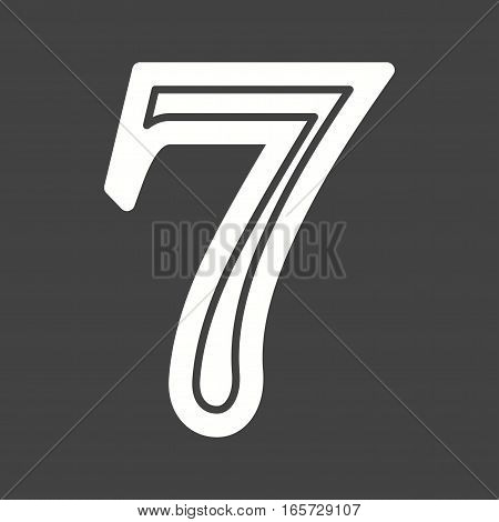 Casino, triple, lucky 7 icon vector image. Can also be used for casino.