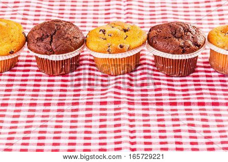 Delicious Muffins In A Row