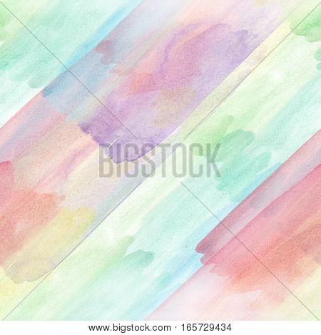 Seamless pattern illustration. Aquarelle painting in rainbow colors. Suitable for background backdrop texture, fabric textile, wallpaper and wrapping paper