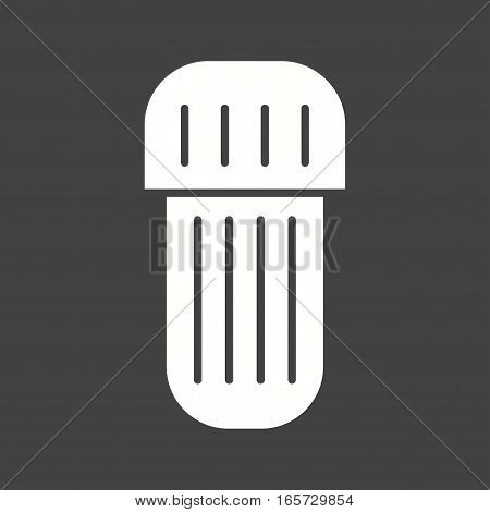 Amalgam, capsule, care icon vector image. Can also be used for dentist equipment.