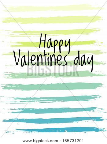 Vector happy Valentines Day card. Greeting cover on 14 february in doodle style