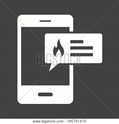 Alert, fire, safety icon vector image. Can also be used for firefighting.
