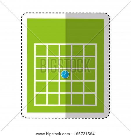 bingo card isolated icon vector illustration design