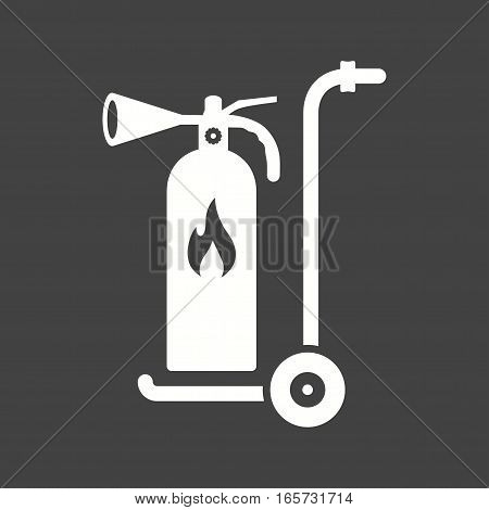 Moveable, extinguisher, firefighter icon vector image. Can also be used for firefighting.