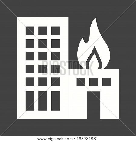 Fire, building, heat icon vector image. Can also be used for firefighting.