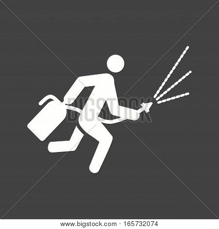 Fire, extinguisher, firefighter icon vector image. Can also be used for firefighting.