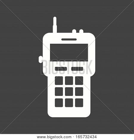 Walkie, talkie, radio icon vector image. Can also be used for firefighting.