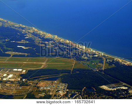 Myrtle Beach, South Carolina from the sky