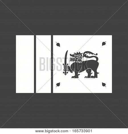 Sri Lanka, flag, national icon vector image. Can also be used for flags.
