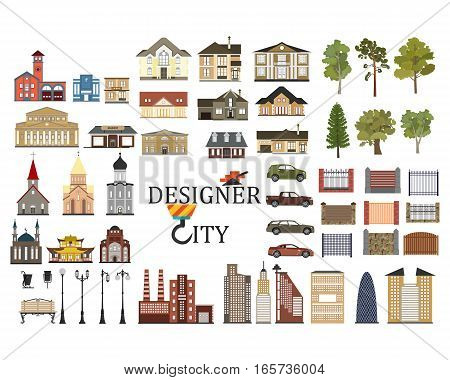 set of city infographics in vector format eps10