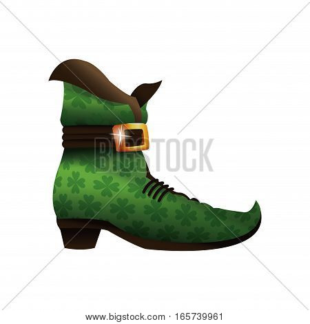 saint patricks day boot green v ector illustration eps 10