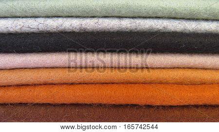 Felt textile material rainbow color colour craft sew