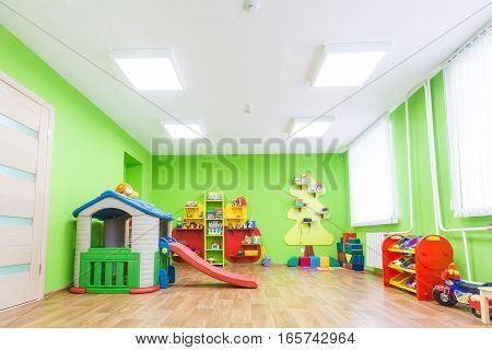 Picture of Green game room in the kindergarten.