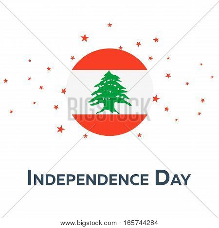 Independence Day Of Lebanon. Patriotic Banner. Vector Illustration.