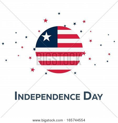 Independence Day Of Liberia. Patriotic Banner. Vector Illustration.
