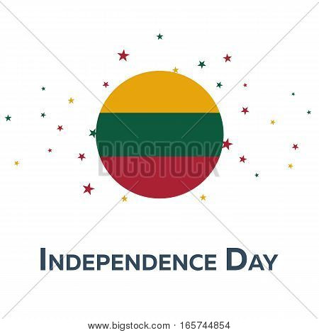Independence Day Of Lithuania. Patriotic Banner. Vector Illustration.