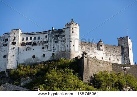 Fortress Hohensalzburg beautiful medieval castle in Salzburg Austria