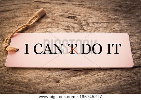 I can do it concept for self belief, positive attitude and motivation