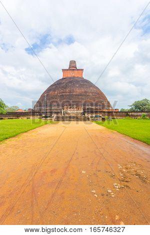 Anuradhapura Jetavanaramaya Dagoba Dirt Path V