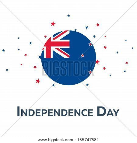 Independence Day Of New Zealand. Patriotic Banner. Vector Illustration.
