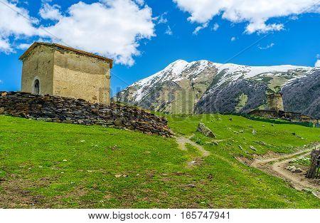 Two Churches Of Ushguli