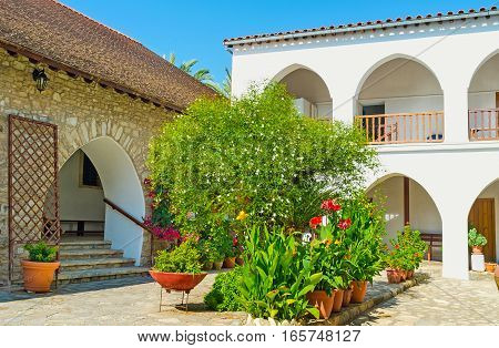 The Gardening In St Minas Monastery