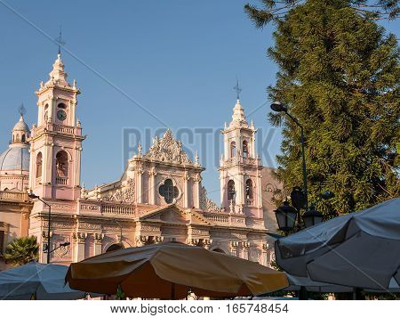 The Umbrella and Cathedral in Salta (Argentina)
