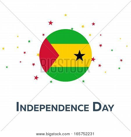 Independence Day Of Sao Tome And Principe. Patriotic Banner. Vector
